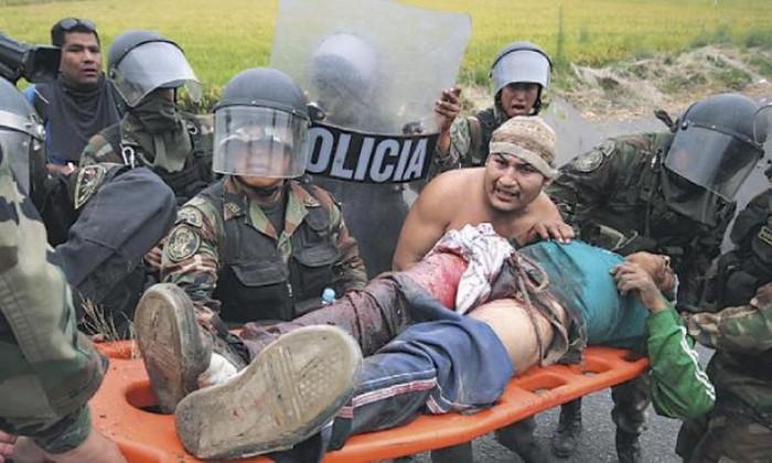 Vitoriano agonizando. FOTO El Chino